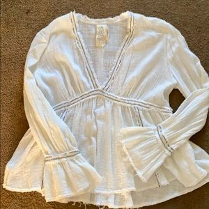 Free People flared sleeve blouse